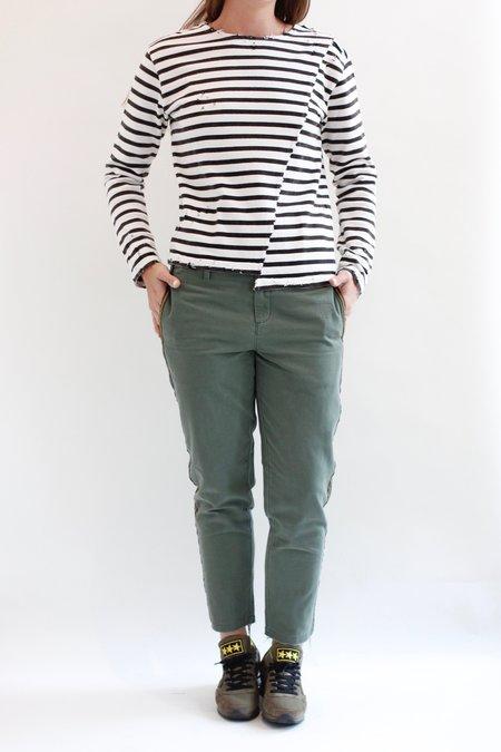 G1 clothing Band Chino Pants - ARMY GREEN