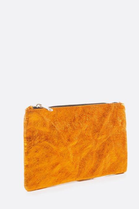 Zilla Large Metallic Pouch - Orange