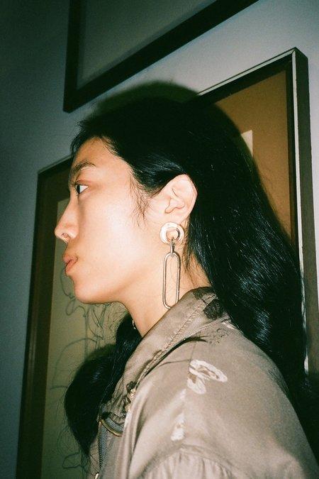 Annika Inez Looped Glassy Earrings