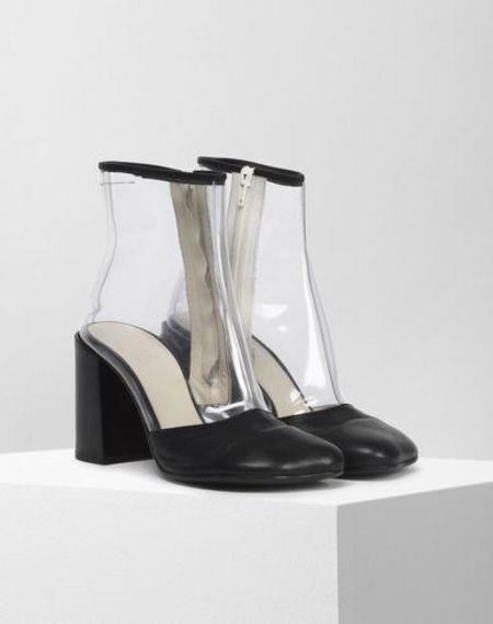 MM6 by Maison Margiela PVC Leather Boots