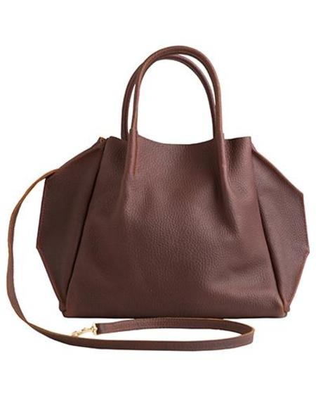 Oliveve zoe buffalo cow leather tote - brown