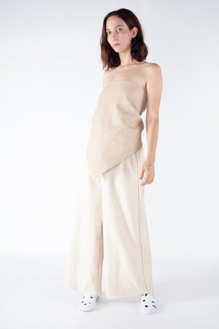 Ashley Rowe Large Leather Bandana Top - Off White