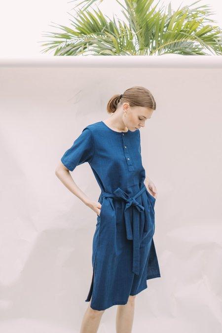 Seeker x Retriever Leisure Dress - Indigo