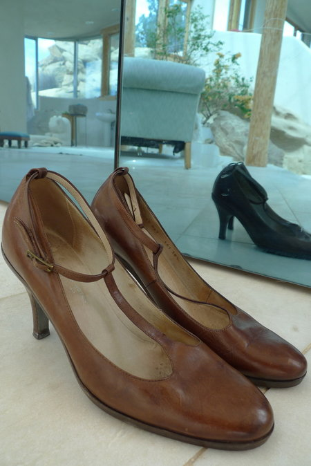 Unforeseen Circumstances Shop. Vintage Dries Van Noten T-Strap Heel