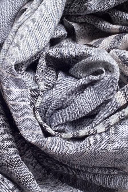 Sevya Saheli Wool Scarf - Blue/Silver