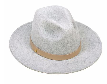 Lack of Color The Mack Hat - Stone Wash Light Speckled Grey with Nude Leather Ban