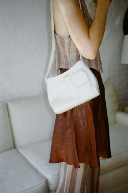 VINTAGE Either, And Nine West Mini Bag - Ivory