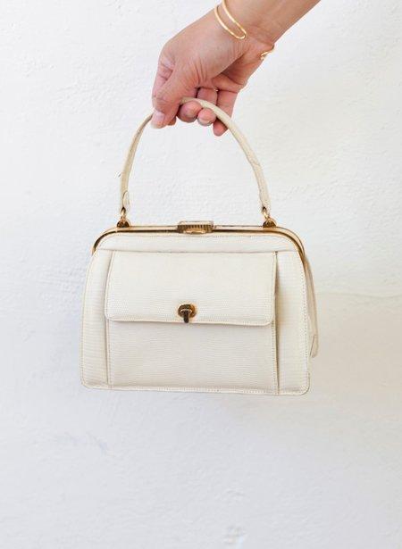 Found + Collected Vintage Lucile De Paris Bag - Cream