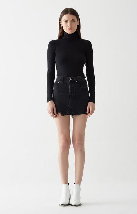 Agolde Quinn High Rise Mini Skirt - Black Cult Wash