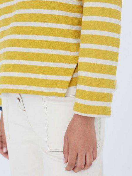 Nice Things Stripe Sweat Top - Yellow
