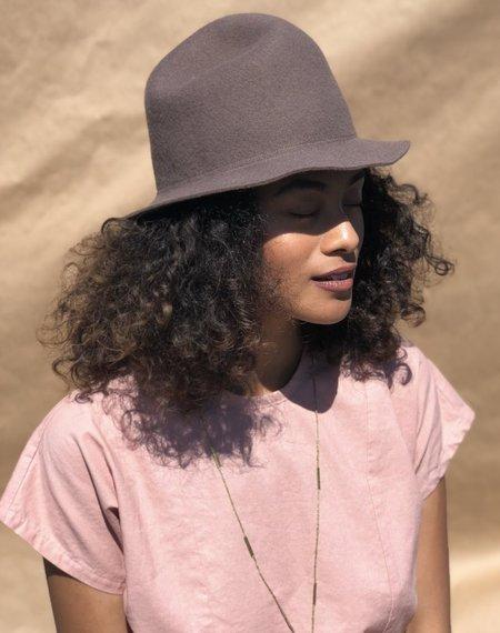 Unisex Brookes Boswell Yama Imo Hat - Mink Wool Felt