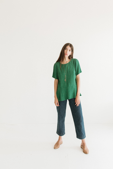 Just Female Dotted Tee - Green/Pink Polka Dots