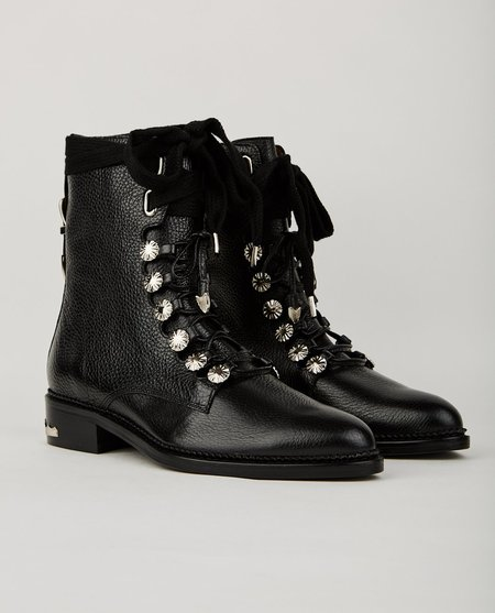 Toga Pulla LACE UP BOOT - BLACK