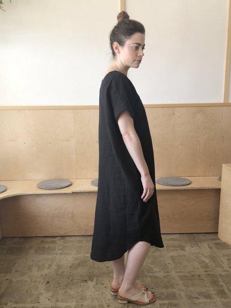 7115 by Szeki Reversible Maxi Dress - Black Linen