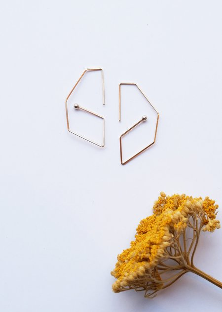 Gabriela Jewelry Contour Earrings - GOLD FILLED