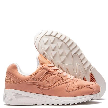 Saucony Grid 8500 Burnished Industrial Sneakers - Peach/White