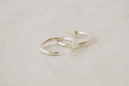 M. Hisae Celine Hoops - Sterling Silver