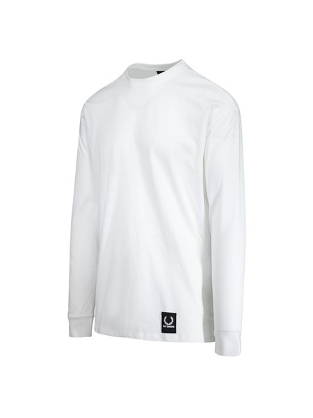 Raf Simons X Fred Perry Long Sleeve Tape Detail T-Shirt - White