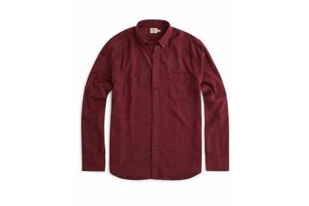 Faherty Brand Melange Oxford Shirt - Burgundy