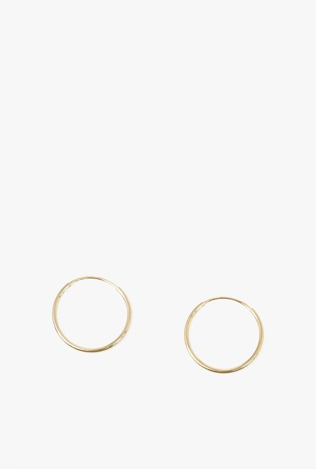 Honey & Bloom It's A Hoop Earrings - 14k Gold