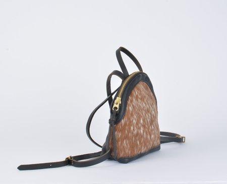 Eleven Thirty Shop Anni Mini Backpack - Brown Salt/Pepper
