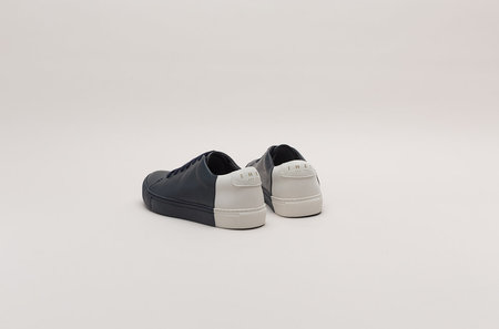 THEY Two-Tone Low Sneakers - Navy/OffWhite