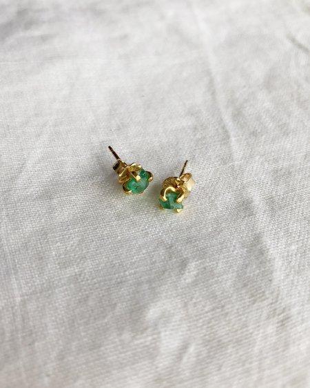 Variance Zambian Emerald Small Stone Studs