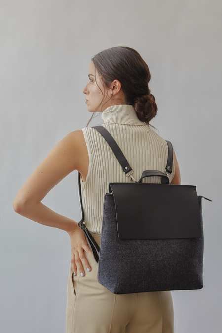 Graf Lantz + Eileen Fisher East West Backpack - Charcoal