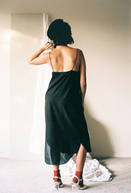 Leo Strange The Simple Slip Dress - Midnight Black