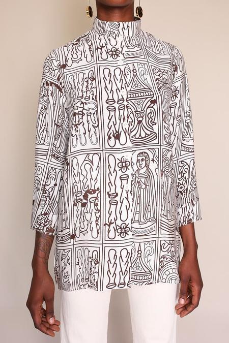 Elise Ballegeer Sissy Shirt - Brown Tarot Print