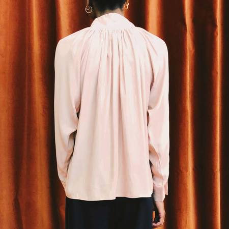 Colovos Silk Drape Top - Pink