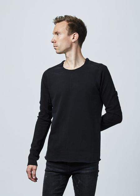 Hannes Roether Fjonn Reverse Sleeve Sweater - black