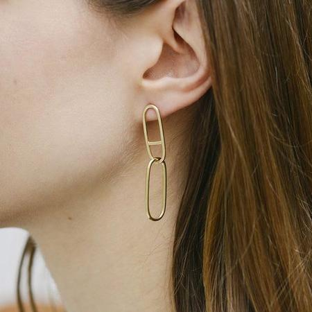 Seaworthy Eclipse Earrings - Brass