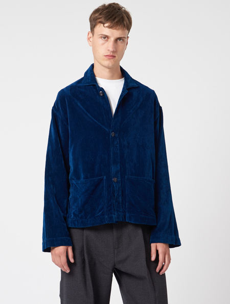 Story Mfg Velvet Short On Time Jacket - NAVY