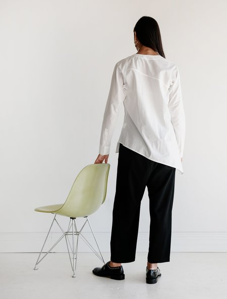 Ys by Yohji Yamamoto Asymmetrical V-Neck Shirt
