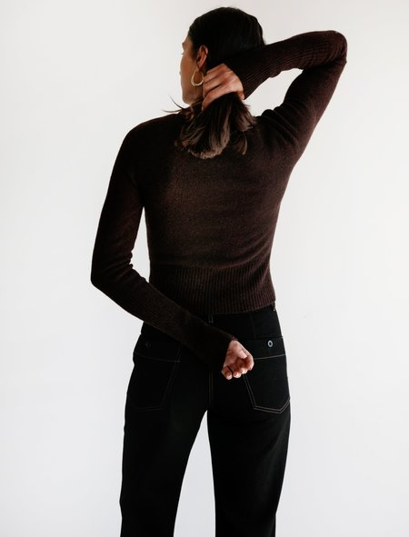 Lemaire Fitted Sweater - Dark Brown
