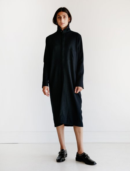 Ys by Yohji Yamamoto High Neck Shirt Dress - Navy