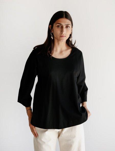 Lemaire Long Sleeve Tee Shirt - Jersey Black
