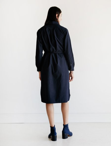 Niuhans Sound Cloth Shirt Dress - Navy