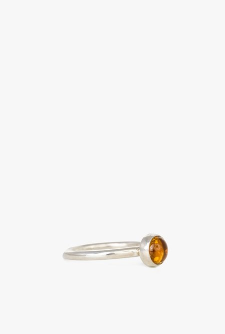 I Like It Here Club Citrine Aura Ring - Sterling Silver