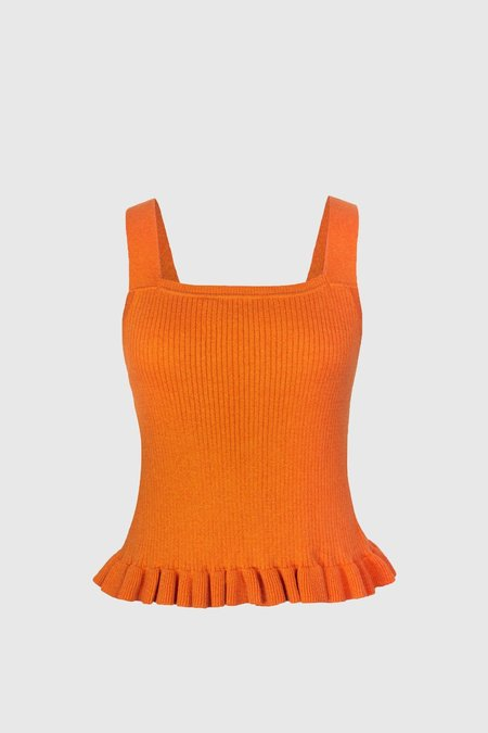 Lonely Frill Singlet - Orange