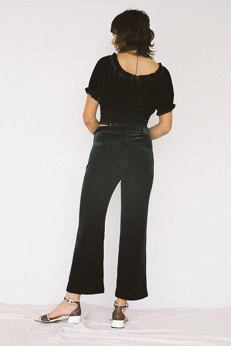 Lonely Katie Velvet Pants - Emerald
