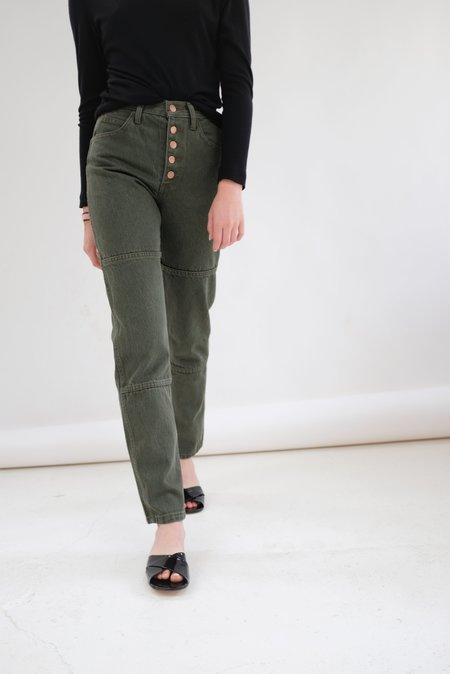 Carleen One Tone Jeans - Sage