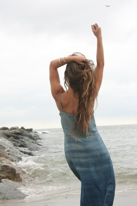 LACAUSA Alma Slip Dress - Eclipse Blue Wash
