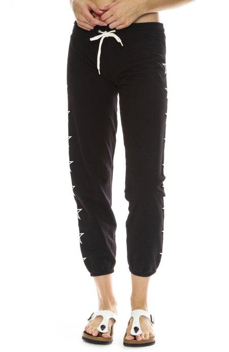 Monrow Embroidered Star Sweatpants - Black