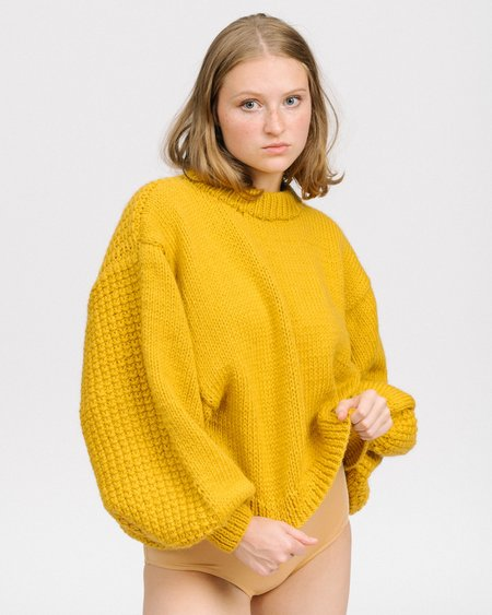 I Love Mr Mittens Jackie Sweater - Mustard