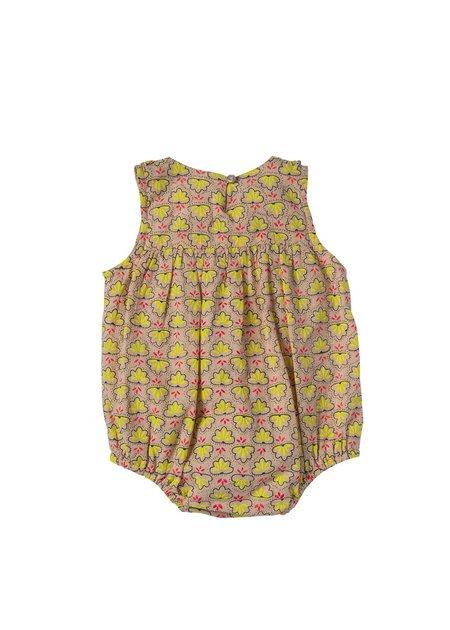 Kids Bonheur Du Jour Ameline Onesie - Pink/Yellow Scallop