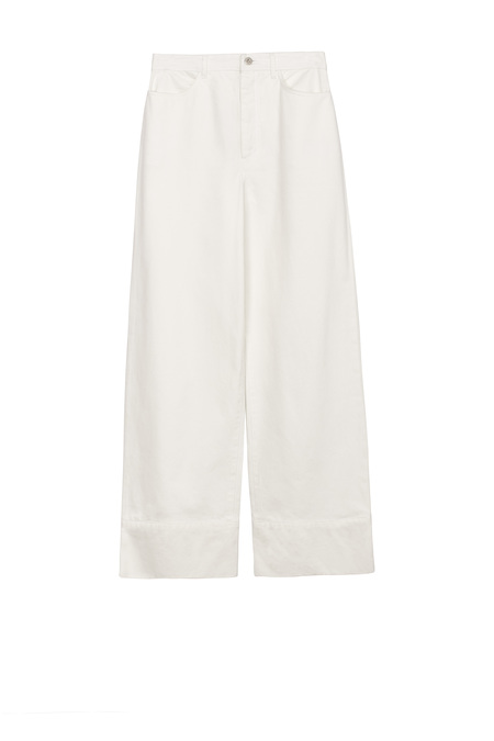 Kowtow Stage Pant in Ecru Denim