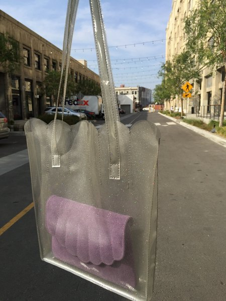 CAB Collection Shell Tote - CLEAR GLITTER