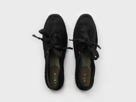 PK214 Espadrilles with Laces - Black